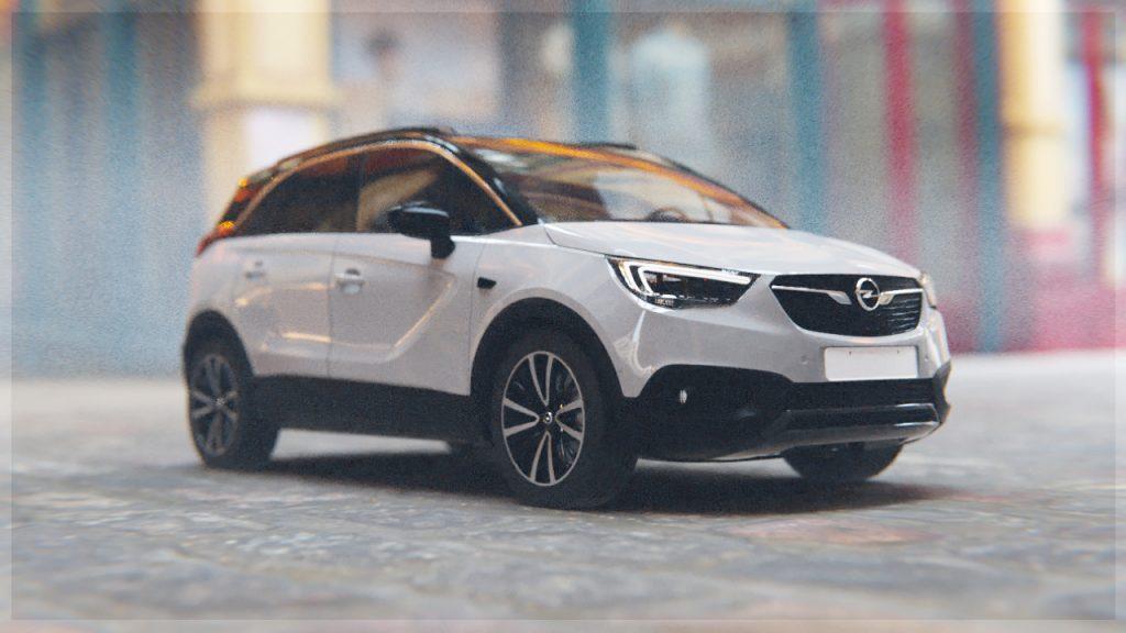 3D render of a car in street