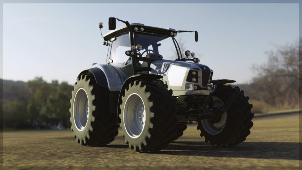 3D scene - outdoors and tractor
